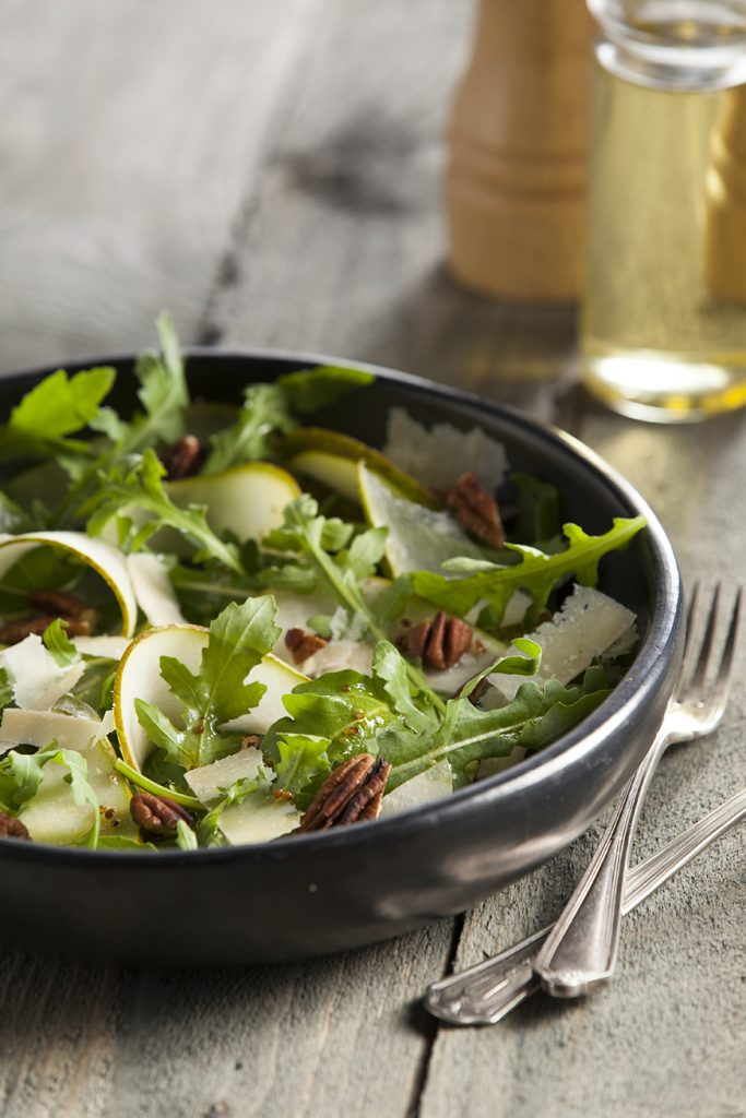 Pear and pecan nut salad by Stacy Grant