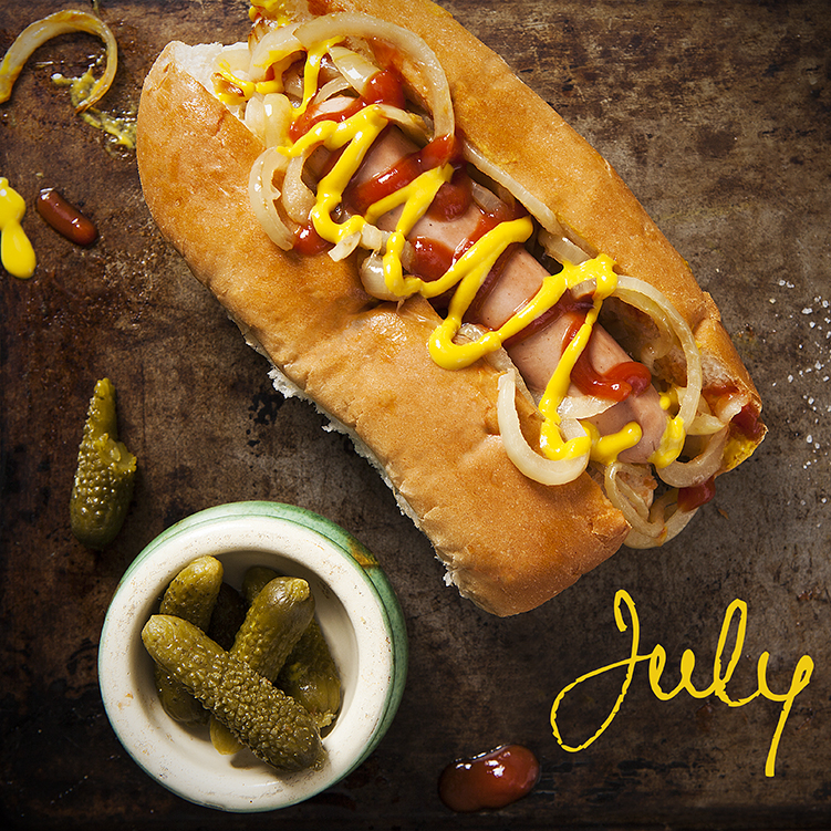 July Hot Dogs by Stacy Grant