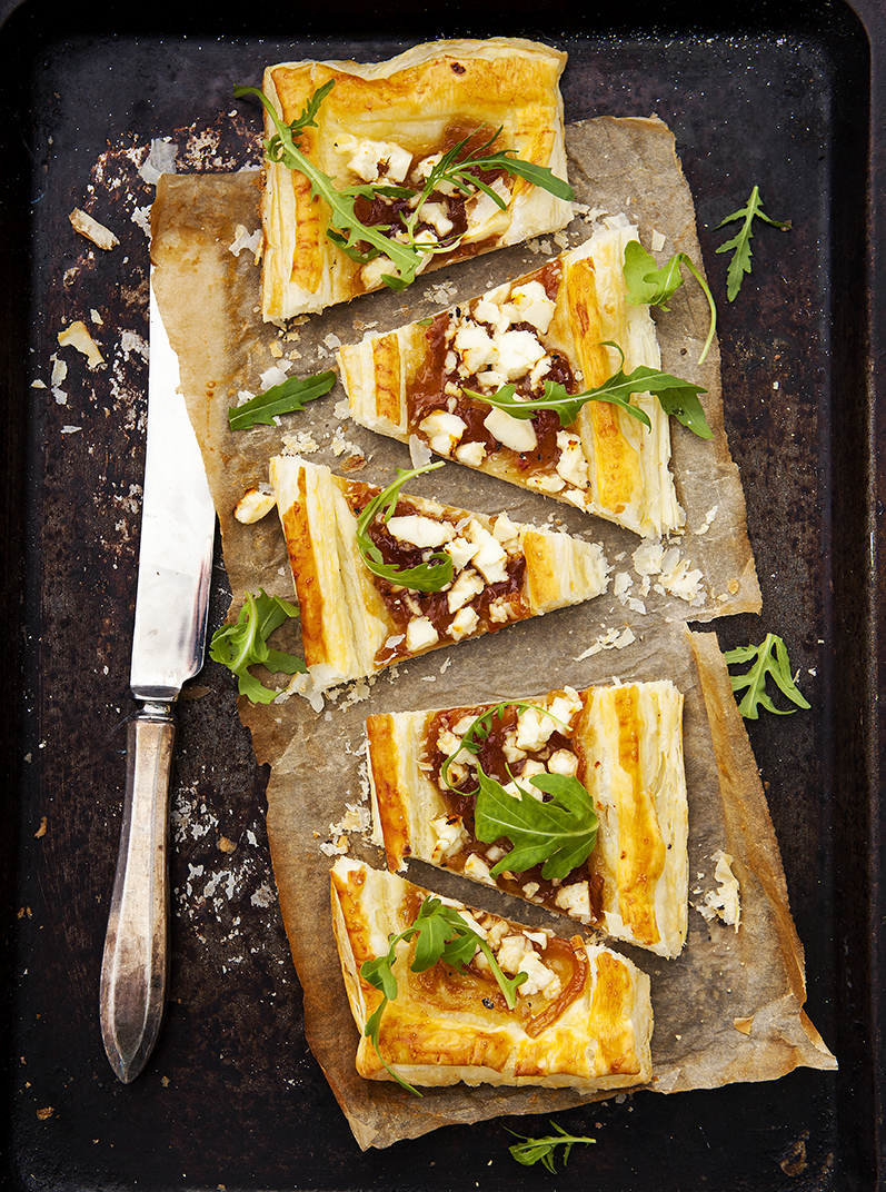 Goats cheese and onion tart | Meat free | Stacy Grant