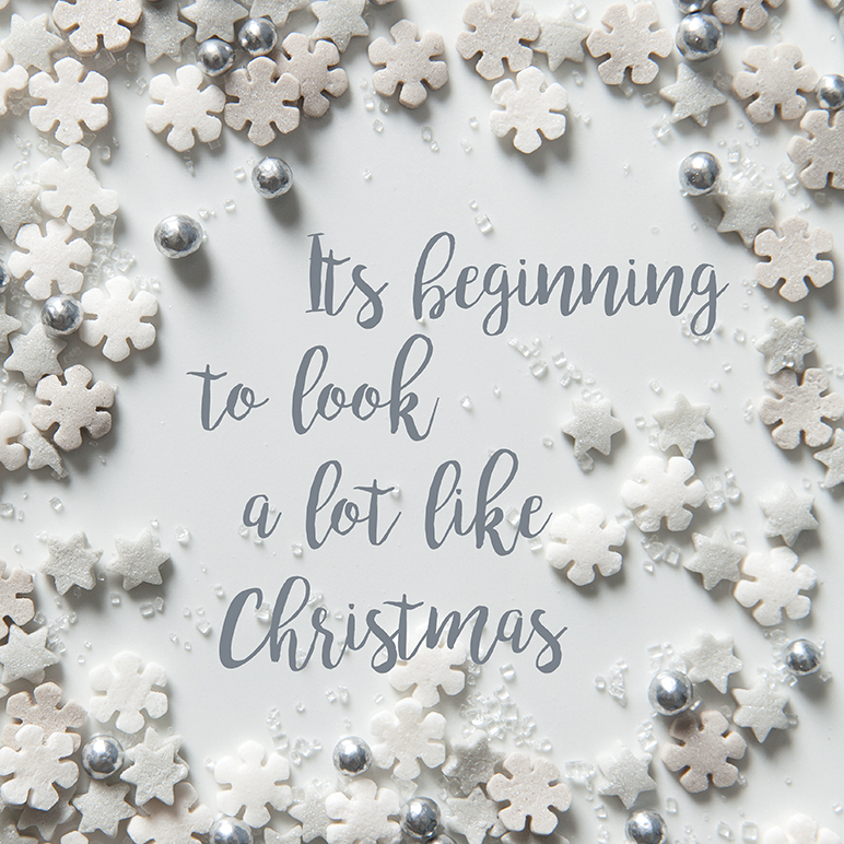 Christmas cake sprinkles | Its beginning to look a lot like Christmas