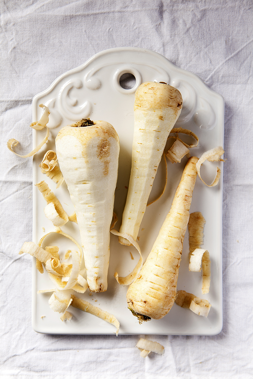 Peeled Parsnips | Stacy Grant | Creative food photography