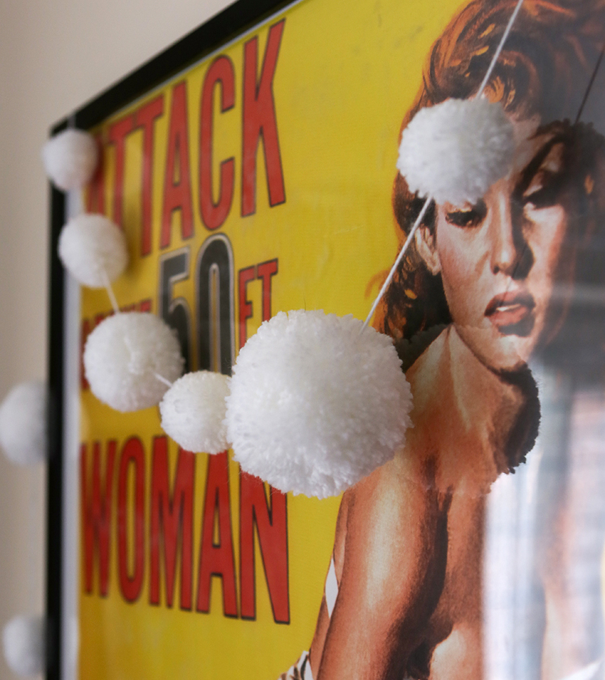 Pompom Snowball garland | Stacy Grant Craft | 52 Weekends