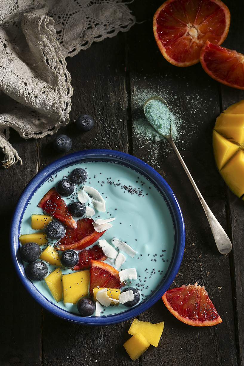 Blue food | Blue Spirulina | Stacy Grant | Food Photographer