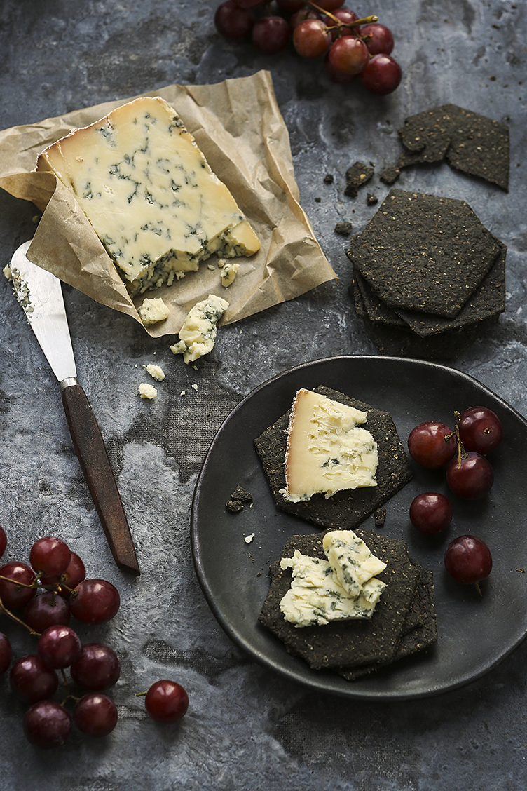 Cheese and crackers | Charcoal biscuits | Artisan Biscuits | Stacy Grant food Photographer