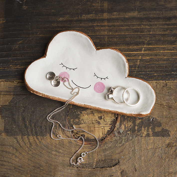 April Showers | Air dry clay | Cloud Trinket Holder  | 52 Weekends Stacy Grant Photography