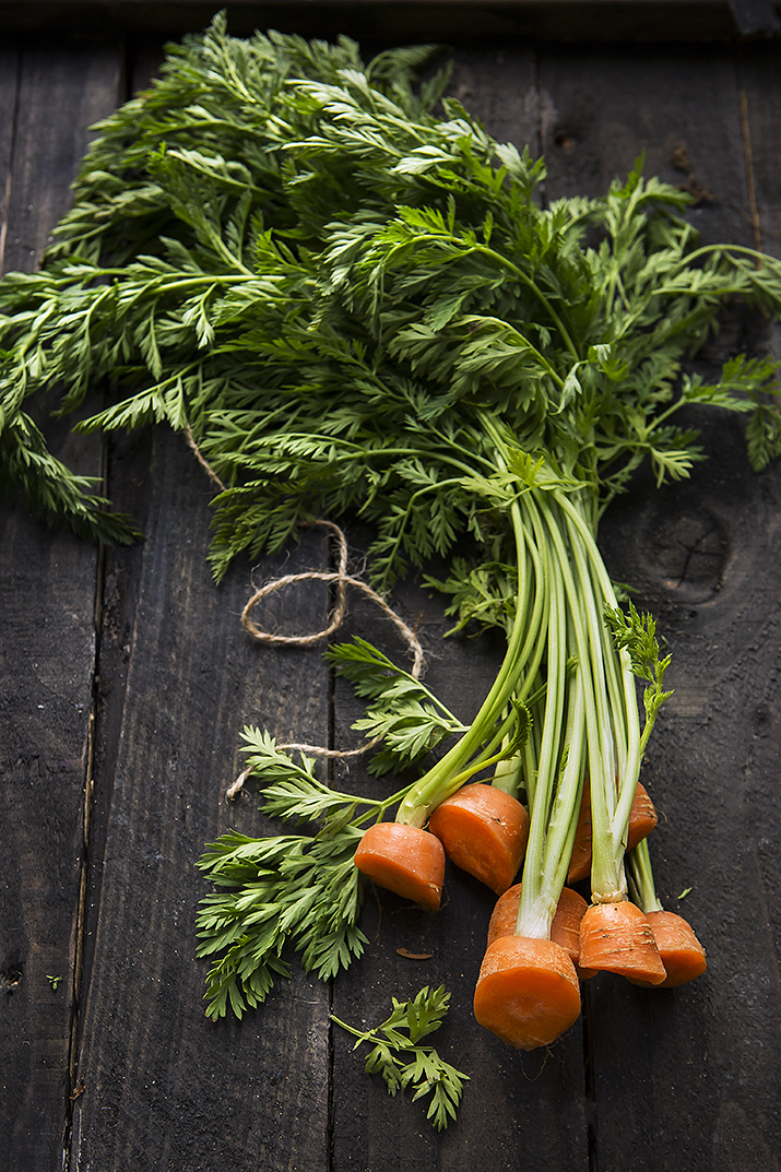 Carrot tops | International Carrot Day | Stacy Grant Food Photographer