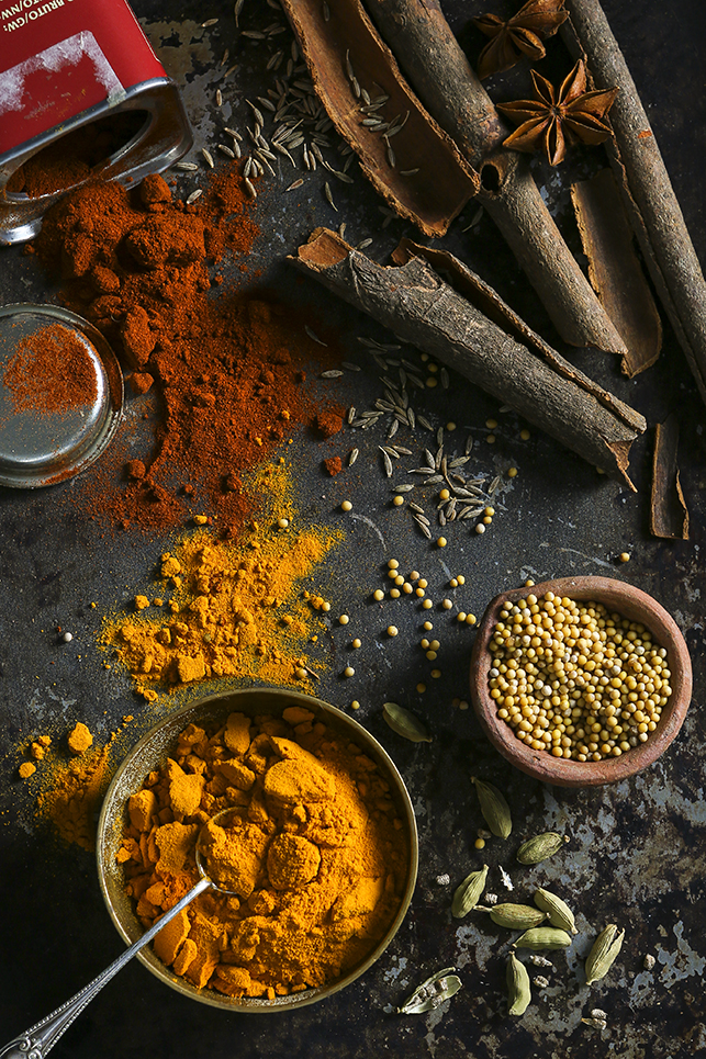 Spice Ingredients by Stacy Grant Food Photographer
