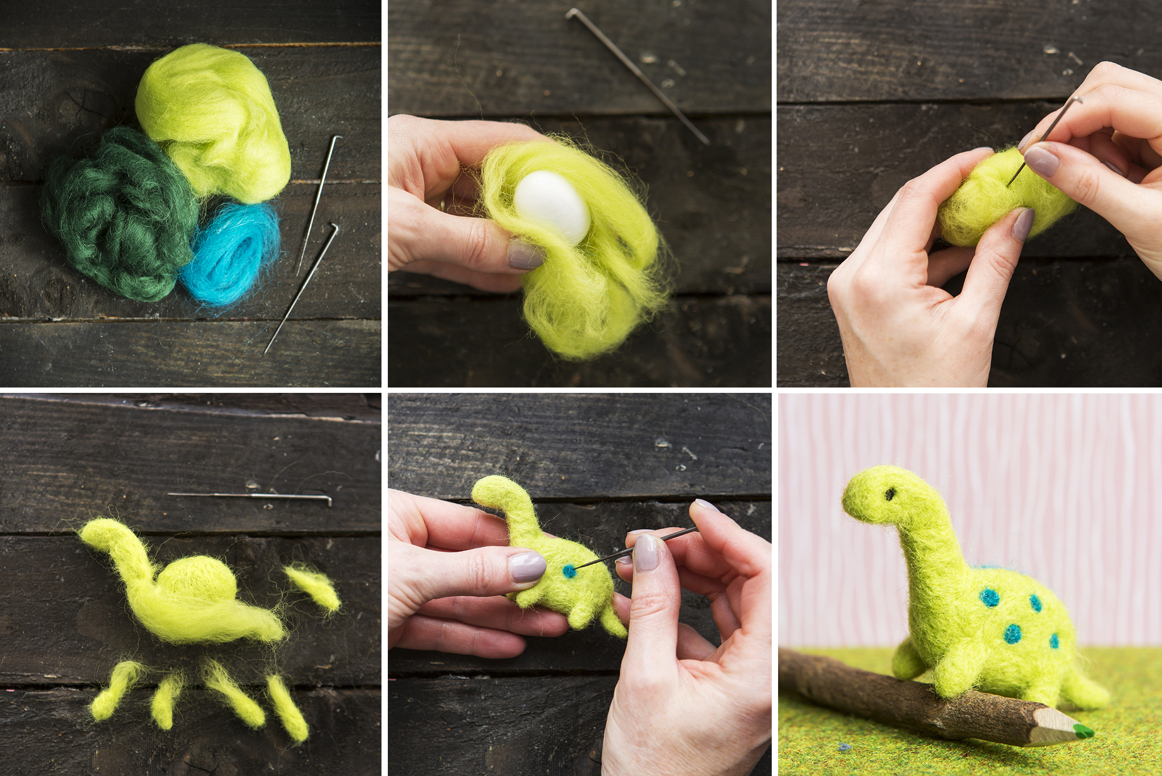 Dino Project | Needle Felting Dinosaur | Stacy Grant Creative craft photographer