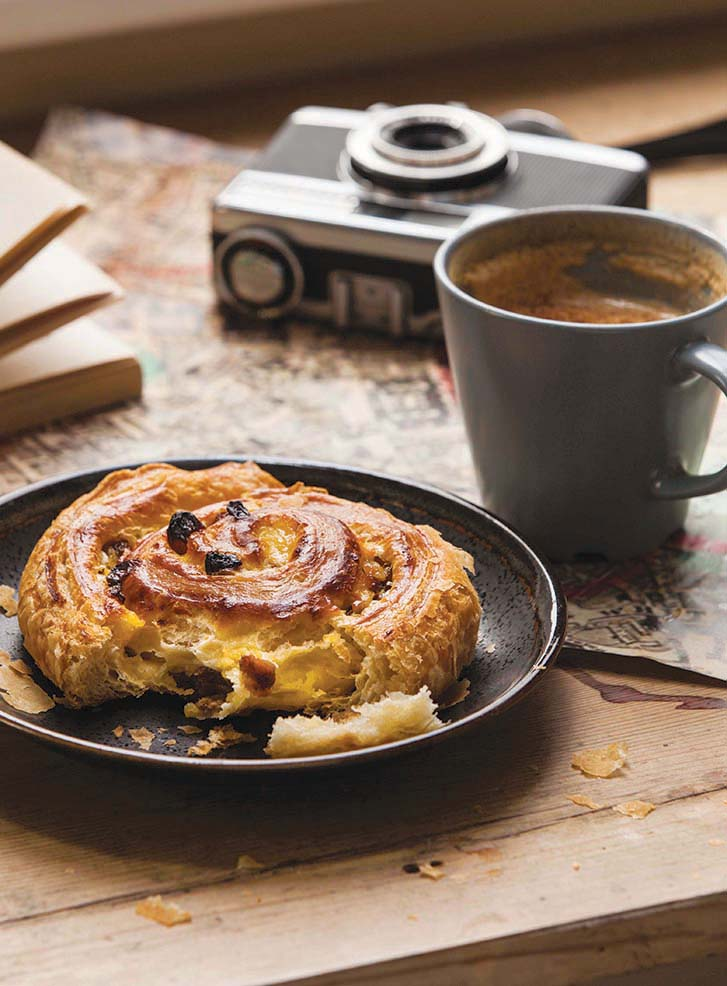 Coffee and Danish Pastry | Meat Free Monday | Stacy Grant Food Photography