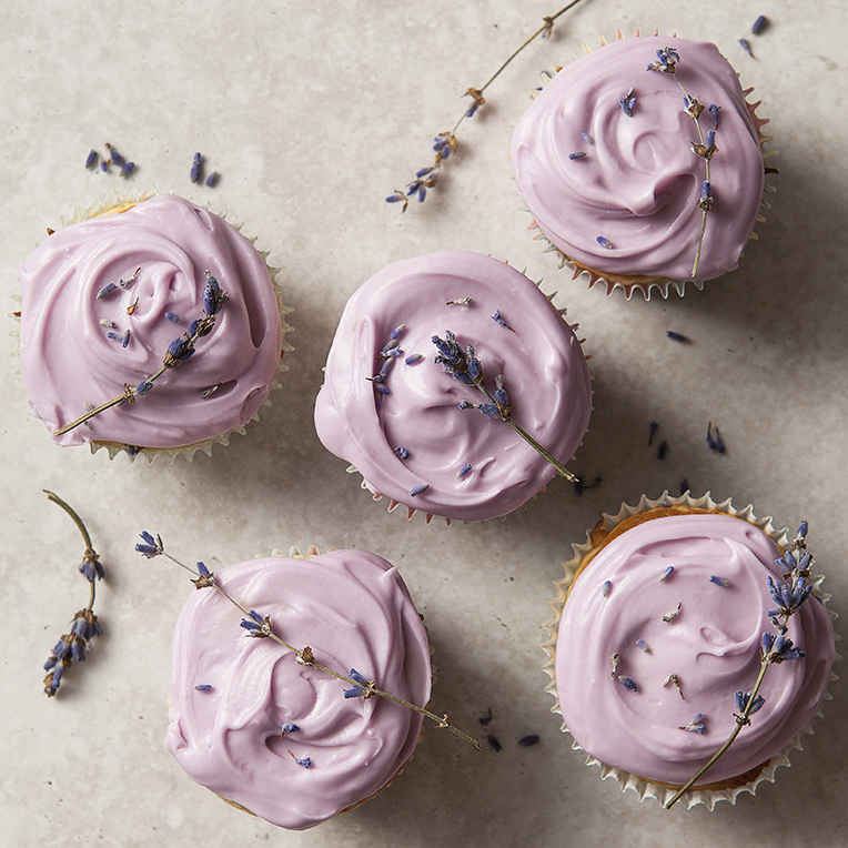 Lavender Iced Cupcakes | Birthday | Stacy Grant Food Photographer